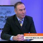 El Dr. Juan Morales, Director médico del IVAB en los informativos de Canal 7